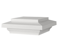 "AZTM ISLAND CAP WHITE 5-1/2"" - Building Materials 